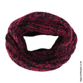 Red-&-Black-Knitted-Wool-Snood