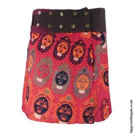 Red-Buddha-Head-Popper-Skirt