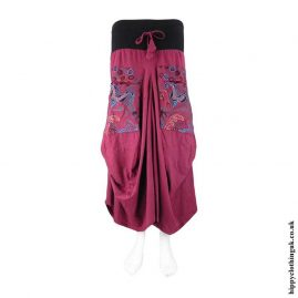 Red-Flower-Embroidery-Balloon-Skirt