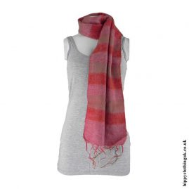 Red-Mix-Striped-Acrylic-Scarf