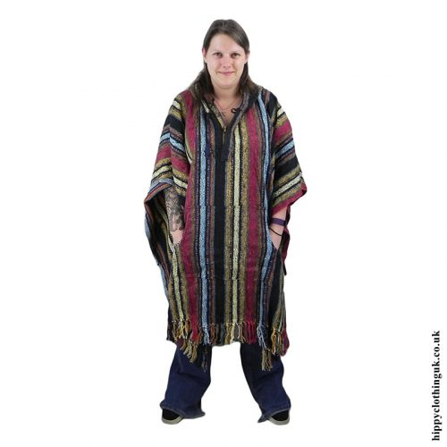 Female cotton Poncho, Hippy Poncho 1