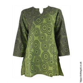 Green-Circle-Print-Tunic