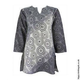 Grey-Circle-Print-Tunic