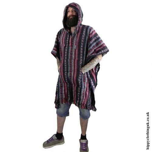 Male-cotton-Poncho,-Hippy-Poncho-1