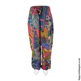 Multicoloured-Patchwork-Harem-Trousers