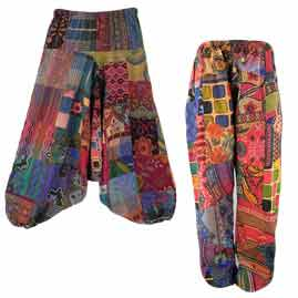 Patchwork Harem Trousers