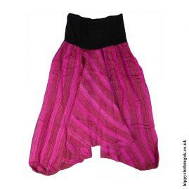 Pink-Acrylic-Harem-Ali-Baba-Trousers