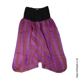 Purple-Acrylic-Harem-Ali-Baba-Trousers