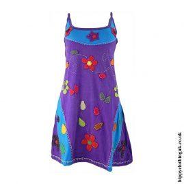 Short-Embroidery-Flower-Purple-Hippy-Dress