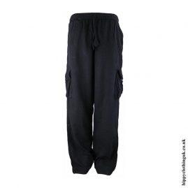 Black-Plain-Cotton-Nepalese-Hippy-Trousers