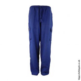 Blue-Plain-Cotton-Nepalese-Hippy-Trousers