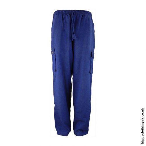 Blue-Plain-Cotton-Nepalese-Hippy-Trousers