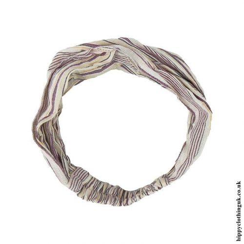 Cream-Colour-Mix-Striped-Cotton-Headband-1