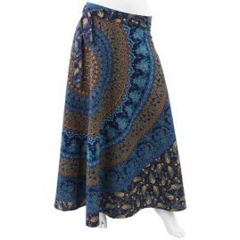 Long-Hippy-Cotton-Throw-Wrap-Skirt-Blue-new
