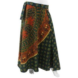 Long-Hippy-Cotton-Throw-Wrap-Skirt-Green-new