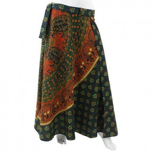 Long-Hippy-Cotton-Throw-Wrap-Skirt-Green-new