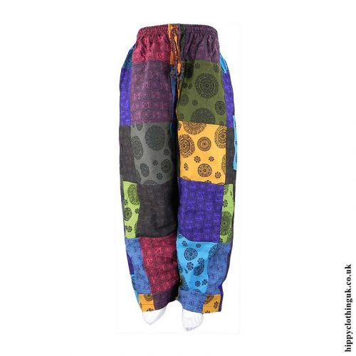Multicoloured-Patchwork-Patterned-Trousers