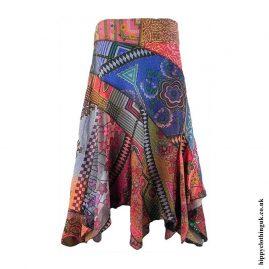Multicoloured-Patchwork-Pixie-Hippy-Skirt