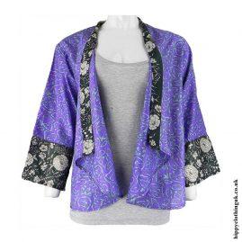 Open-Sari-Shrug-Purple