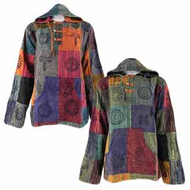 Hooded Patchwork Shirts