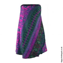 Pink-Green-Acrylic-Wrap-Hippy-Skirt