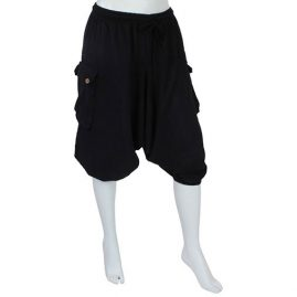 Plain-Black-Ali-Baba-Shorts---Front