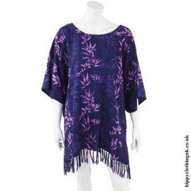 Purple-Bamboo-Short-Batik-Kaftan