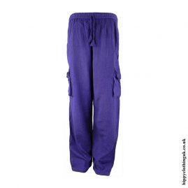 Purple-Plain-Cotton-Nepalese-Hippy-Trousers