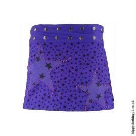 Purple-Stars-Short-Popper-Skirt
