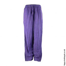Purple-Striped-Cotton-Hippy-Trousers