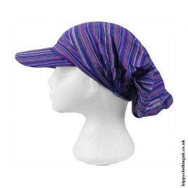 Purple-Striped-Headband-Cap