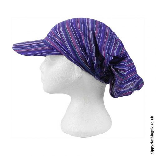 Purple-Striped-Headband-Cap