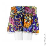 Purple-Tropical-Shorts-with-Pom-Poms