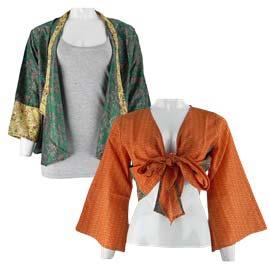 Recycled Sari Shrugs