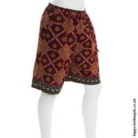 Red-Geometric-Shorts