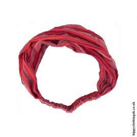 Red-Orange-Striped-Cotton-Headband