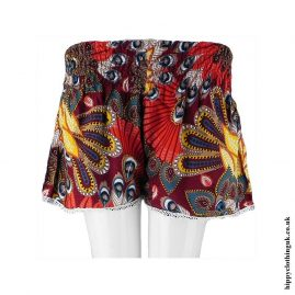 Red-Tropical-Shorts-with-Lace