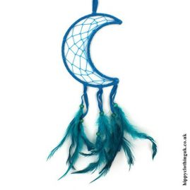 Teal-Nylon-Crescent-Moon-Dreamcatcher