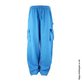 Turquoise-Plain-Cotton-Nepalese-Hippy-Trousers