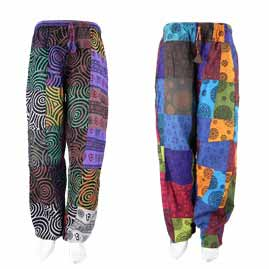 Patchwork Patterned Trousers