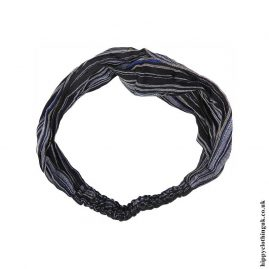 Black-Blue-Striped-Cotton-Headband