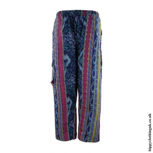 Blue-Multi-Woven-Hippy-Trousers