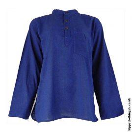 Blue-Plain-Grandad-Shirt