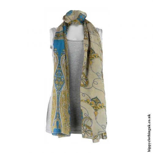 Blue-Recycled-Sari-Scarf