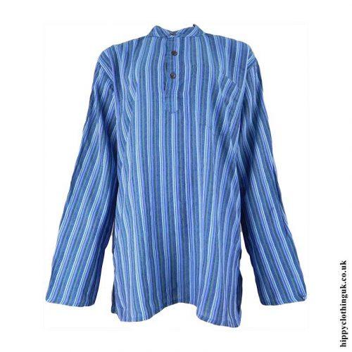 Blue-Striped-Grandad-Shirt