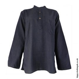 Charcoal-Plain-Grandad-Shirt