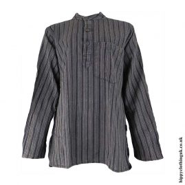 Charcoal-Striped-Grandad-Shirt