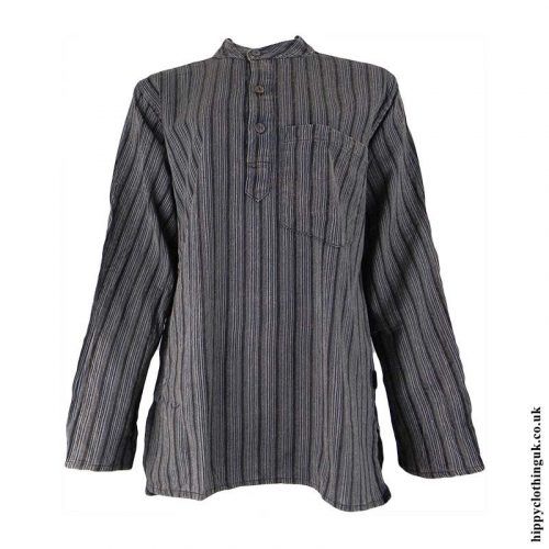 Charcoal-Striped-Grandad-Shirt