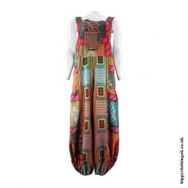 Colour-Mix-Printed-Pattern-Cotton-Hippy-Dungarees