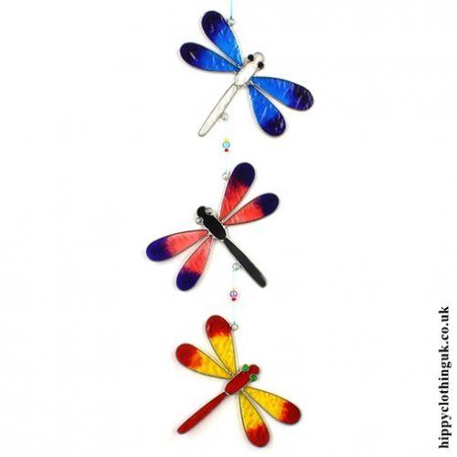 Colourful Handmade String of Dragonflies Suncatcher 1